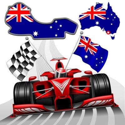 Image Formule 1 Voiture de course rouge GP Australie