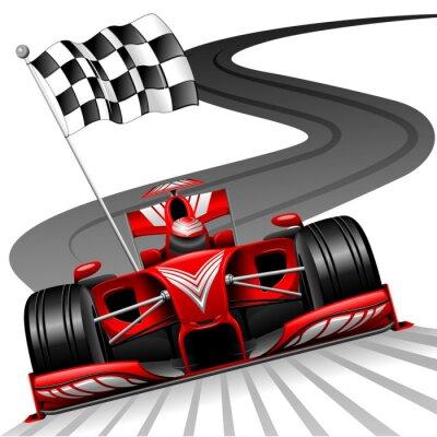 Image Formule 1 voiture rouge sur Race Track