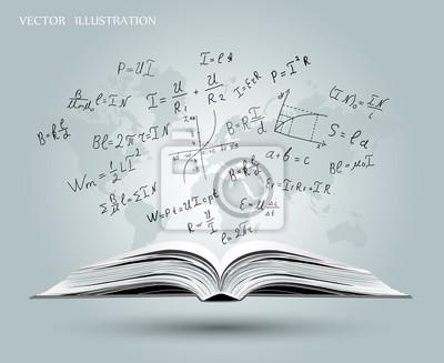 Image Formules Mathematiques Et Graphiques Sur Le Livre Ouvert