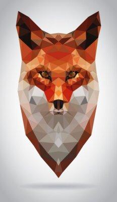 Image Fox head vector isolated geometric modern illustration
