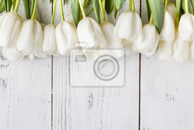 Image Frame for card with natural white tulips