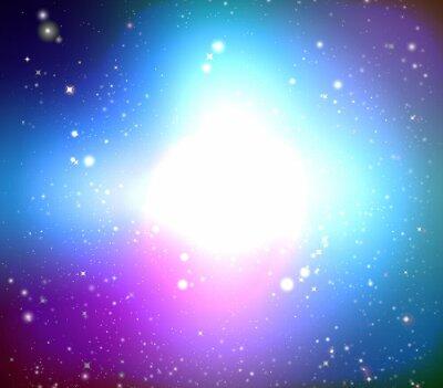 Image Galaxie couleur