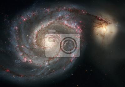 Galaxie de tourbillon. Armes gracieuses de la majestueuse galaxie spirale.