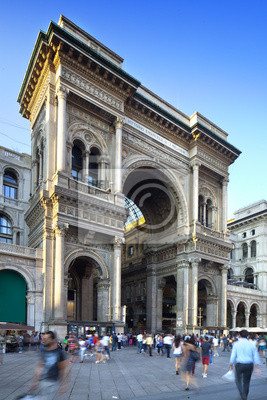 Galleria Vittorio Emanuele II à Milan en Italie