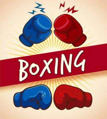 Image Gants de boxe et bannière