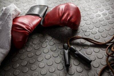 Image Gants de boxe et corde