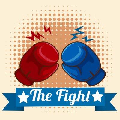 Image Gants de boxe et signe de figthing