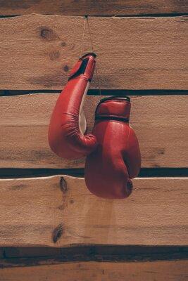 Image Gants de boxe sur le mur.