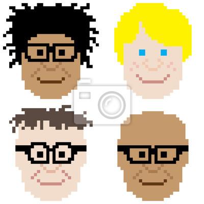 Image Garçon Visage Pixel Art