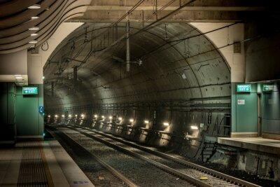 Image gare et tunnel