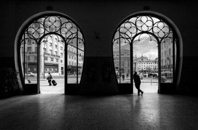 Image Gare Rossio. Vieille ville de lisbonne. Le Portugal.