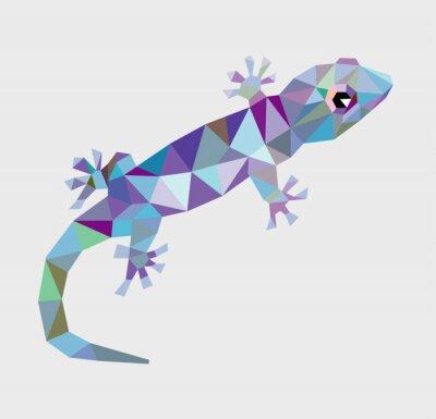 Image Gecko triangle faible polygone vecteur