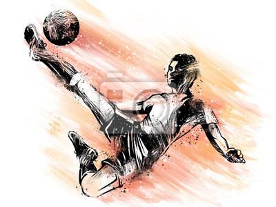 Image Giocatore di calcio che tira la palla