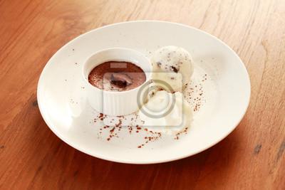 glace de chocolat fondu et