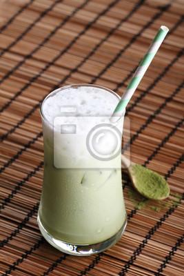 Glacé, vert, tae, latte.