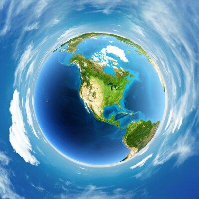 Image Globe réel soulagement