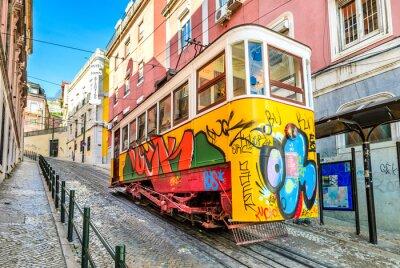 Image Gloria Funicular, Lisbon, Portugal