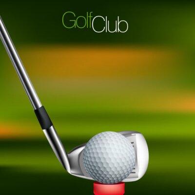 Image Golf Contexte Tous les éléments sont dans des couches séparées et regroupées.