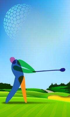 Image Golfeur, golf, cours