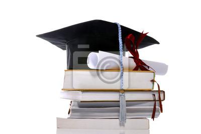 Graduation Cap, des livres et défilement