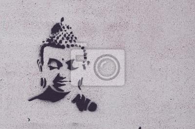 Image Graffiti bouddha