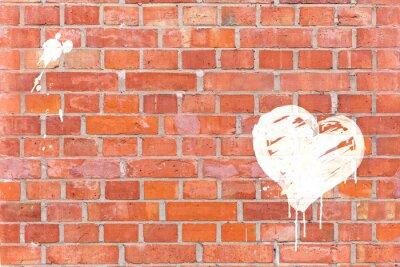Image Graffiti-Herz auf eine Mauer gerendert mit Platz für Text