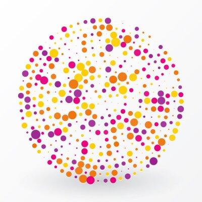Image grand cercle de couleur des petits pois