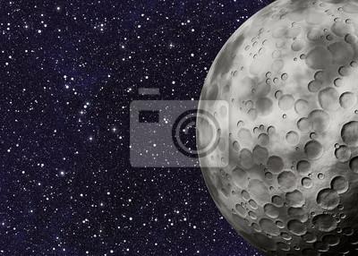 Grand, lune, cratères, espace, Arrière-plans