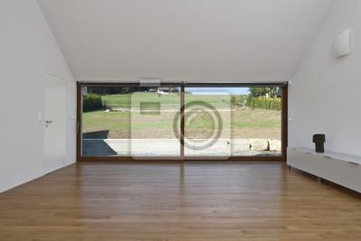 grande portes coulissantes en verre dans la maison