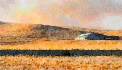 Image Grange à la campagne