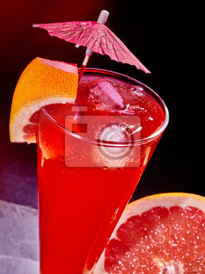Grapefruit cocktail with umbrella 83.