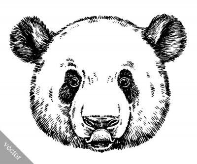 Image Gravure encreur dessin panda illustration