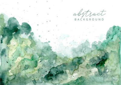 Image green abstract watercolor texture background
