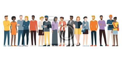 Image Groupe multiethnique de personnes