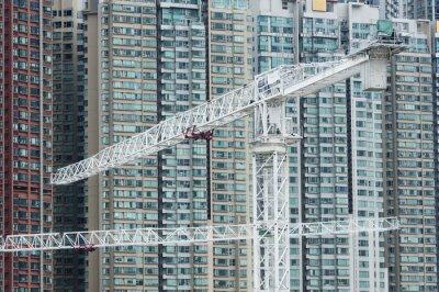 Image Grue dans le chantier de construction