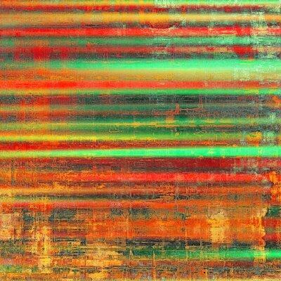 Image Grunge, coloré, fond Avec différents motifs de couleur: jaune (beige); rouge orange); vert; noir