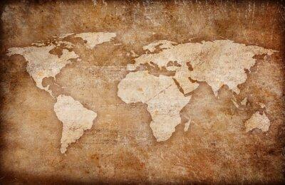 Image grunge fond de carte mondiale