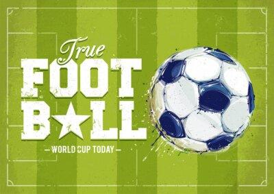 Image Grunge Football Poster