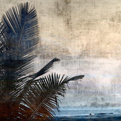 Image grunge palmier-2
