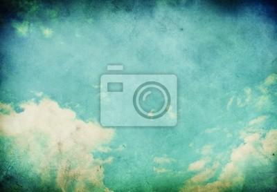 Grunge Paysage avec des nuages