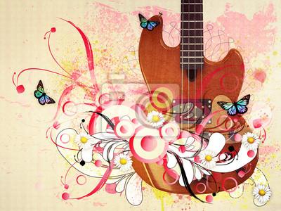 Guitare Floral