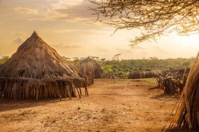 Image Hamer village près de Turmi, Ethiopie