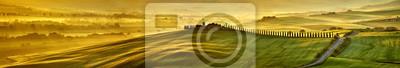 Image Haute résolution méga pixel Toscane collines panorama