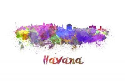 Image Havana skyline in watercolor