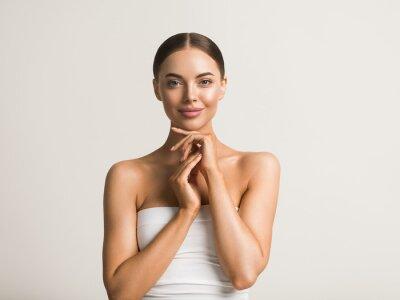 Image Healthy skin woman natural make up beauty face closeup