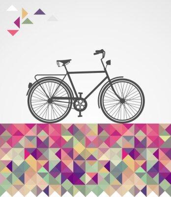 Image Hipsters rétro éléments géométriques cyclables.