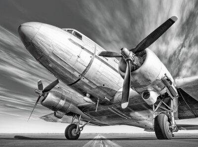 Image Historique, avion, piste