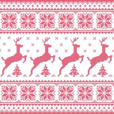 Image Hiver, Noël motif pixélisé rouge transparente avec des cerfs