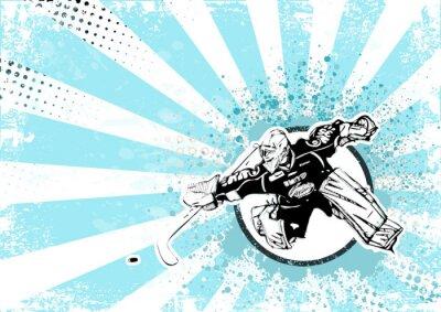 Image hockey sur glace rétro fond d'affiche