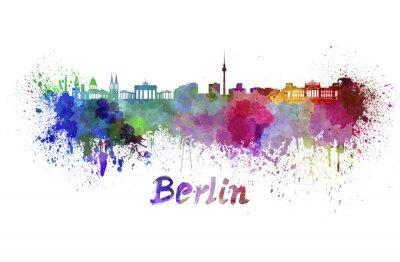 Image Horizon de Berlin à l'aquarelle